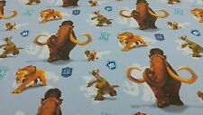 Disney Licensed Ice Age Blue Comic Cartoon Cotton Curtain Craft Fabric