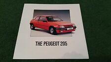 1989 PEUGEOT 205 SEE IT FEEL IT TOUCH IT LOVE IT -UK 10pg COLOUR FOLDER BROCHURE