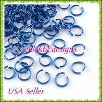 6mm 100pc Royal Blue Aluminum Jump Rings Jewelry Findings Open Chainmaille 09
