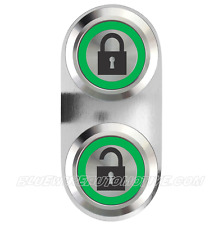 CENTRAL LOCKING BILLET BUTTON GREEN HOT ROD HOLDEN CHEV FORD WILLYS F100 MOPAR