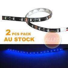 2X12V Blue Lamp Waterproof  DIY 30cm LEDFlexible Car/Motorcycle/Truck StripLight