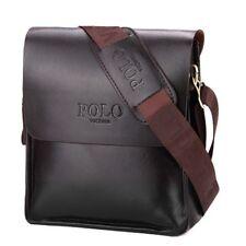 Men Elegant Shoulder Messenger Bag Handbag Medium Black Polyurethane Leather HOT