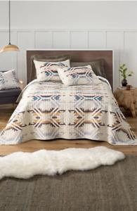 PENDLETON Comforter Set Size QUEEN/FULL White Sand Shell Soft Comforter Quilt