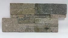 pièces de patron le naturel Schistes brique murale wengé brun lanières 18X35CM