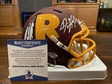 Dwayne Haskins Autographed Washington Redskins AMP Mini Helmet Beckett #1