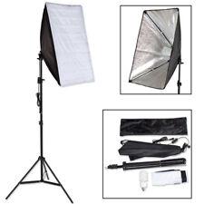Kit iluminación Estudio fotográfico Set 1x Lámpara Fotografía Softbox Trípode