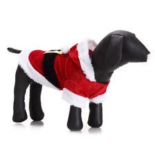 Pet Dog Santa Christmas Costume Hoodie Coat For Puppy Cats Xmas Plush Apparel