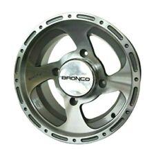 12.00x7.00 Aluminum Silver Quad Rim / Wheel 4+3 Offset 4/156 Bolt Pattern