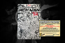 Invincible Iron Man #1 2015 NYCC Tony Moore Sketch Variant  SIGNED BY TONY MOORE