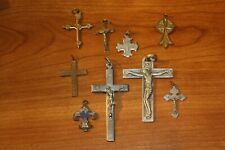 Collection of 9 Vintage  Crucifix cross