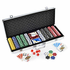 500 Pcs Diced Poker Chip Set With Denomination Toy
