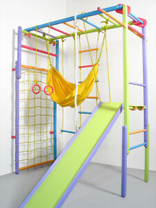 Wooden Indoor Foldable Climbing Playset | Playground for Kids