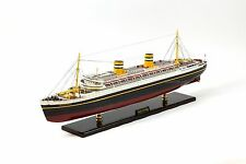 "SS Nieuw Amsterdam Holland Ship Model 36.5"" Museum Quality Scale 1:250"