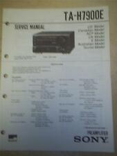 Sony Service Manual~TA-H7900E Amplifier/AMP/MHC-7900/P100X~Original~Repair
