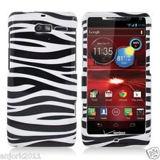 MOTOROLA Droid Razr M xt907 HARD SNAP-ON CASE COVER ACCESSORY WHITE ZEBRA