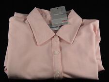 Ashworth EZ-Tech Ladies Golf Polo Shirt Small NWT Pink No Iron Cotton