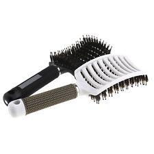 Unisex Boar Bristle Hair Brush set Curved and Vented Detangling Hair Brush