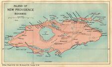 NEW PROVIDENCE. Vintage map. Bahamas. Caribbean 1935 old vintage chart