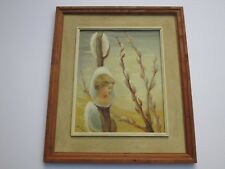 JEAN SNYDER PAINTING PUSSY WILLOW SURREALISM PORTRAIT PAINTING 1960'S MODERNIST