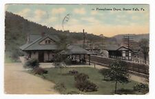 Beaver Falls PA - PENNSYLVANIA RAILROAD DEPOT - Postcard
