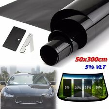 50x300cm Black Window Tint Roll Film 5% VLT For Car/Home Window Sun Protection