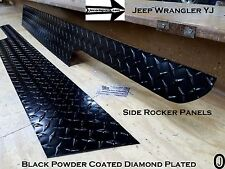 JEEP Wrangler YJ Aluminum Powder Coated Diamond Plate Side Rocker Panel SET 6''
