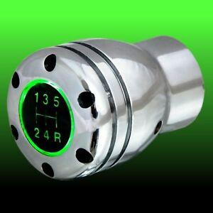 Schaltknauf Schalthebel universal RGA glänzend poliert mit grüner Beleuchtung