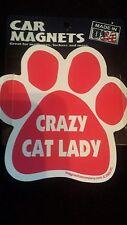 "Crazy Cat Lady Paw  Car Fridge 5.5"" Flexible Magnet"