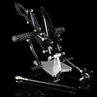 Black CNC Rearsets Foot Pegs For Honda CBR1000RR 2004 2005 2006 2007  CBR600RR