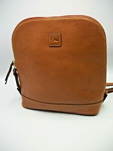 Dooney & Bourke Backpack Pod Leather Caramel Double Zip-Around NEW Florentine