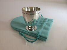 Heavy Tiffany & Co Hamilton Sterling Silver Liquor Shot Cup & Pouch, c1930s
