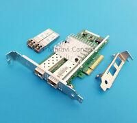 Intel X520-DA2 Dual 2-Port 10GB Network Adapter Dell 942V6 with SFP+ Transceiver