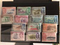 CAYMAN ISLANDS George VI 1950 SG135/47 set of 13 - lightly mounted mint. Cat £85