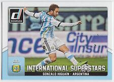 GONZALO HIGUAIN 2015 Donruss Soccer International Superstars #19 Argentina