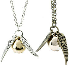 Harry Potter Snitch silver Wings The Golden Pendant Unisex Magic Charm Necklace