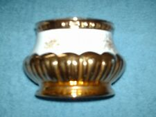 crown devon victoriana vase gold lustre 7.5 cm high 10.5 cm wide