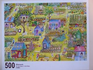 WENTWORTH WOODEN JIGSAW - 500 pieces - ALLOTMENTS by JULIA RIGHBY