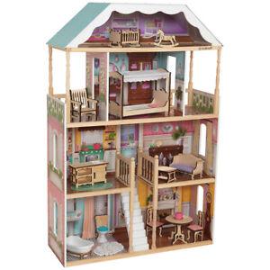 KidKraft Charlotte Dollhouse EZ Kraft Assembly Standing Four Level Kids Toy