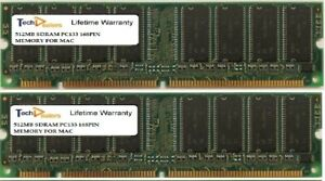 1GB (2X 512MB) PC133  2RX8 168PIN NON ECC MEMORY RAM FOR APPLE eMAC 4,4