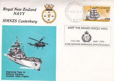 New Zealand 1976 HMNZS Canterbury Navy Week Cover VGC