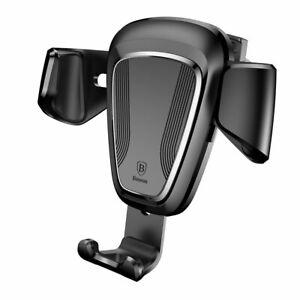 "Baseus Gravity Car Mount 4-6 ""phone ventilator gravity car holder black (SU"