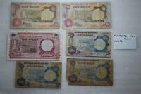 NIGERIA - 6 CIRCULATED BANKNOTES LOT B27 CX2-48