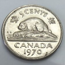 1970 Canada 5 Five Cents Canadian Nickel Circulated Coin E863