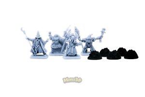 Minis3D - Rep. Heroquest - Morcar: High Mage, Necromancer, Storm Master, Shaman,