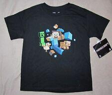 MINECRAFT Game *Friends* Blk S/S Tee T-Shirt Boys sz 7/8