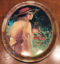Vintage 1976 COCA-COLA SERVING TRAY 1916 WORLD WAR 1 GIRL OFFICIAL REPRODUCTION
