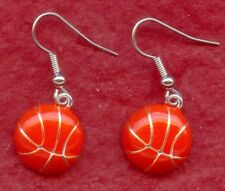 Basketball Earrings New dangle silver plated dangle drop enamelled jewelry