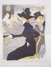 Paris Belle Epoque 1899 1st Edit Toulouse Lautrec Cabaret Engravings Lithographs