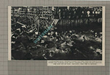 C3135) Salerno Italy Water Polo Match Grandstand Collapse - 1955 Clip