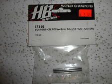 PARTS NEW Hot Bodies (HB), 67416 Suspension pin 3x43mm (front/outer) D8